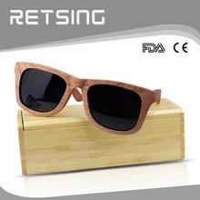 Custom brand Engrave logo for free bamboo wooden case for glasses