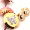 2015 fashion Crystal 18k gold plated jewelry set /dubai gold jewelry set
