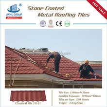 import to Nigeria colorful stone coated flat roof tiles