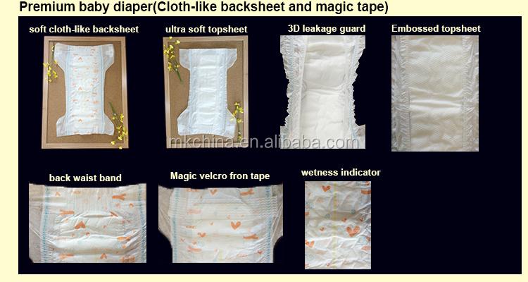 Premium baby diaper(Cloth-like backsheet and magic tape).jpg