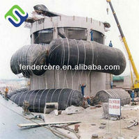 Barge launching inflatable rubber airbag for shipyard