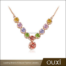 OUXI big discount now quality crystal jewelry necklace fashion jewelry manufacturer