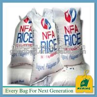 woven pp laminated plastic rice bag for 25kg price holding