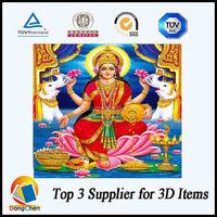 Guangzhou gold foil Hindu idol/hindu god picture
