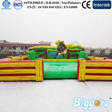 los niños inflables rodeo toro mecánico del colchón