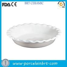 White ceramic nice rim bulk pie plate