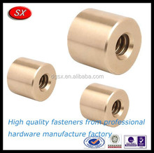 Customized brass inserts round nut,brass knurled inserts for pipe connector parts,OEM brass nut in dongguan