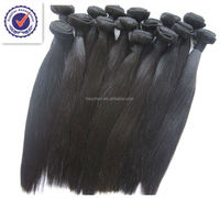 "Wholesale AAAAAA grade 100% original unprocessed Chinese human straight hair 14"""