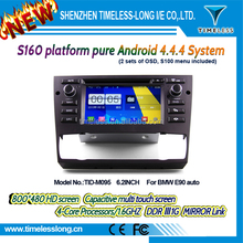 2DIN android car dvd android 4.4.4 HD 1024*600 for BMW E90 auto with 4 Core CPU(TID-M095)