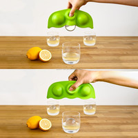 2015 novelty design Giant Pea Pod Ice Sphere Tray and ice makers