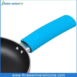 Heat insulation silicone cookware handle