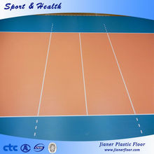 thickness 4.5mm-12mm volleyball court plastic floor mat