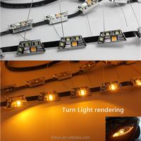 S8 49cm-69cm stretch universal white amber volvo led daytime running lights