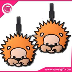 funny animal shape soft pvc rubber bag tag luggage tag