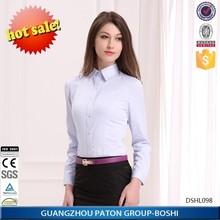 Women's light blue business shirt of long sleeve ,women's formal blouise (DSHL098)