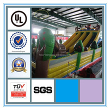 Factory supply giant PVC 0.55mm Popular inflatable double lane slip slide & inflatable stair slide