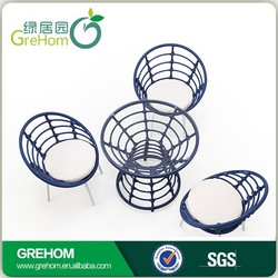 outdoor round table and chair set rattan coffee set wicker