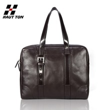 DB24 Brown Business handbag messenger bag briefcase Quality Leather New men bags