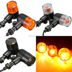 2x 12V Motorcycle Turn Signal Indicators Amber Light Lamp E-mark DOT For Honda /Yamaha /Harley /Suzuki