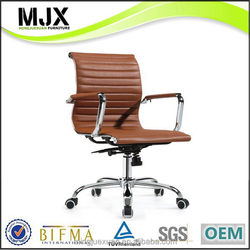 Good quality top sell wooden hot sale leather office chair
