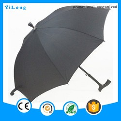 Best price strong Wood handle custom cane umbrella for old men, walking stick tops umbrella,umbrella walking cane