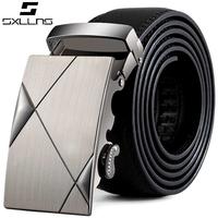 Stylish Casual Business Men Belt,Automatic Buckle Genuine Leather Belt