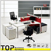 White top panel Special & Creative Workstation in office furniture with side reception parts