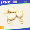 fashion gold chain for bag parts & accessories, pearl hang tags with logo