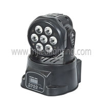 10 watt RGBW 4in1 silm led moving head wash disco small stage light
