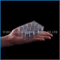 clear silver screw cap glass test vial 5ml