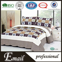 Indian print fabric ribbon embroidery bed cover designs/bedding set
