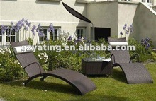 Leisure outdoor or garden use rattan reclining chair