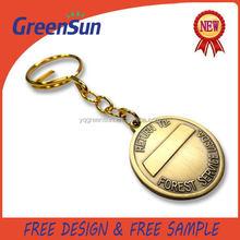 Best price First Choice die cut shape metal logo badge keyring