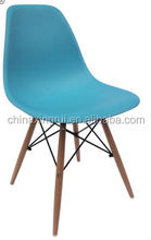 Alibaba express,plastic dining chair with wood legs and ABS