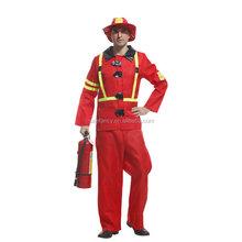 Fireman Sam suit Uniform Fancy Dress Kids Adult Firefighter Costume QAMC-2197