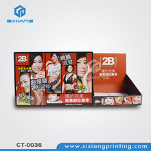 Cardboard black products display stand for business card