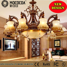 Indoor decoration lighting luxurious imitation antique brass chandelier