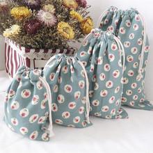 Promotional Drawstring Cotton Shopping Bag