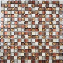 Glass Mosaic 15x15mm Wall Usage Crystal Net Mounted