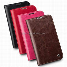 QIALINO 2015 genuine real leather case classic pattern phone cover for samsung galaxy note2
