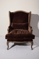 French style antique upholstered wooden cushion chair love chair for sex