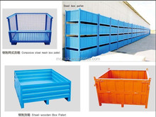 MS wire mesh cage, mesh pallet, metal box for warehouse storage