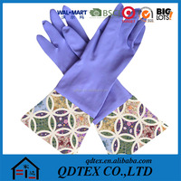 2015 hot sell extra long household rubber cleaning gloves