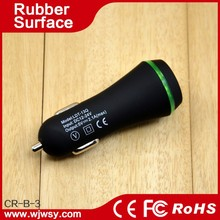 Wholesale Rubber Oil Coated Surface High Quality 2.1A+1A Super Fast Charging Electric Turbo Charger for Car