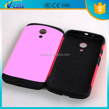 New Arrival Factory Price 2-in-1 Silicon and PC Protective Bling Diamond Hard Case for Motorola Moto G XT1032 XT1031