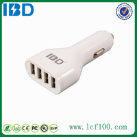 IBD 4- port Smart multiple cell phone car charger wholesale for samsung galaxy note 4 Iphone5