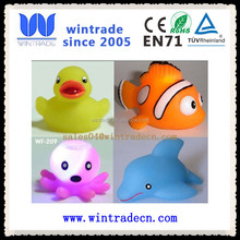 turtle/dolphin/frog/duck/fish/octopus rubber animal toy