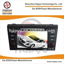 7 inch 800*480 Resulation Special car dvd player for Mazda 3 with build-in GPS;DVB-T;TMC;TPMS