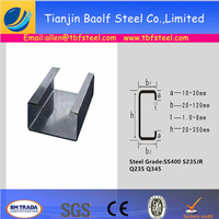 Steel C-Channel Dimensions