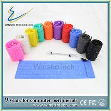 de alta calidad de color flexible de teclado 109 teclas de silicio